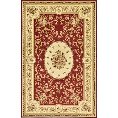 Oskar Red Area Rug Rug Size: 106 x 165