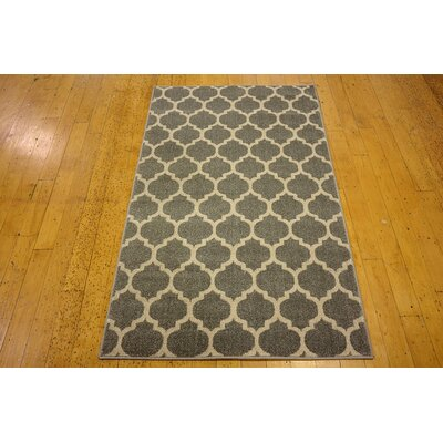Moore Gray Area Rug Rug Size: Rectangle 4 x 6