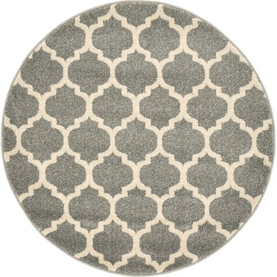 Moore Gray Area Rug Rug Size: Round 122