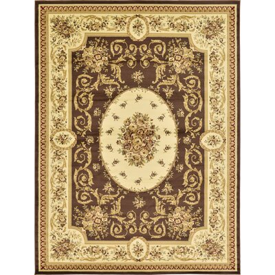 Oskar Brown Area Rug Rug Size: Rectangle 33 x 53