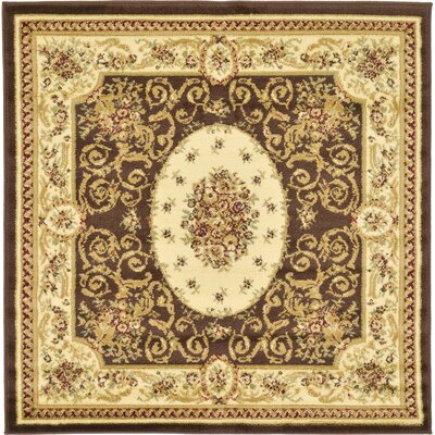 Oskar Brown Area Rug Rug Size: Square 4