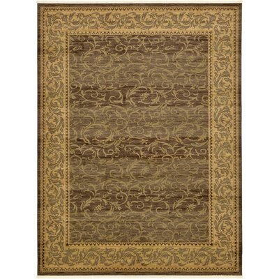 Oskar Brown Area Rug Rug Size: 7 x 10