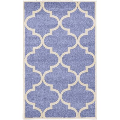 Moore Blue Area Rug Rug Size: 33 x 53