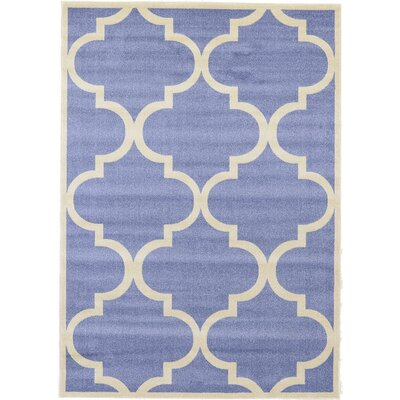 Moore Blue Area Rug Rug Size: 7' x 10'