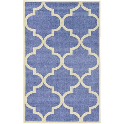 Moore Blue Area Rug Rug Size: 5' x 8'