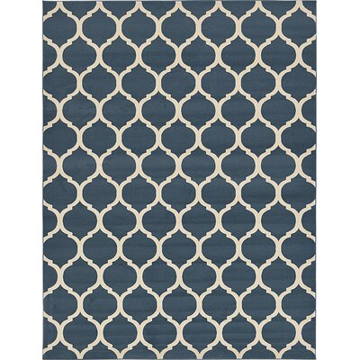 Moore Navy Blue Area Rug Rug Size: 7' x 10'
