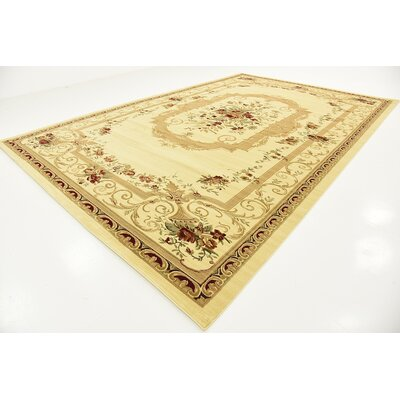 Crainville Beige Area Rug Rug Size: 33 x 53