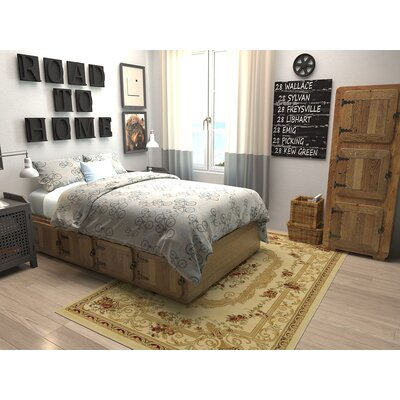 Crainville Beige Area Rug Rug Size: Rectangle 5 x 8