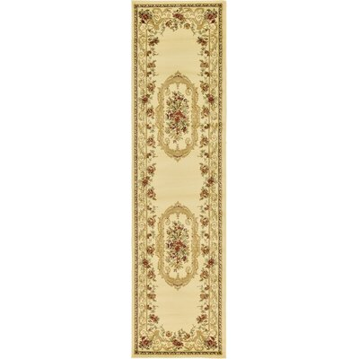 Oskar Cream Area Rug Rug Size: Runner 27 x 10