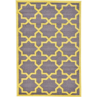 Moore Gray Area Rug Rug Size: 4' x 6'