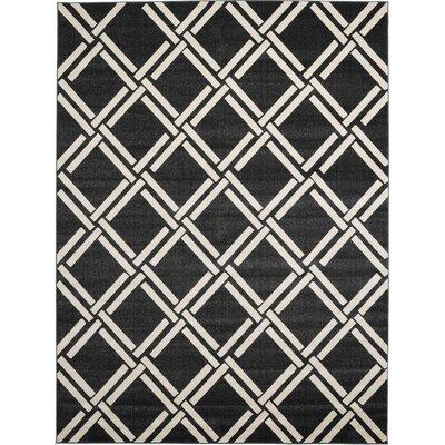 Moore Black Area Rug Rug Size: 33 x 53