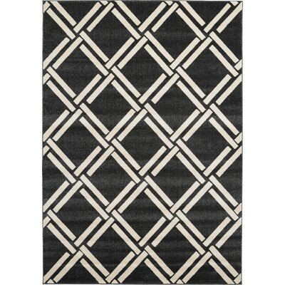 Moore Black Area Rug Rug Size: 9 x 12
