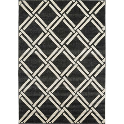 Moore Black Area Rug Rug Size: 7 x 10