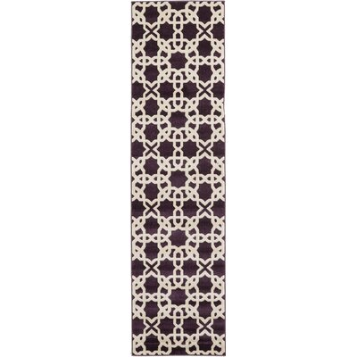Moore Purple Area Rug Rug Size: Runner 27 x 10