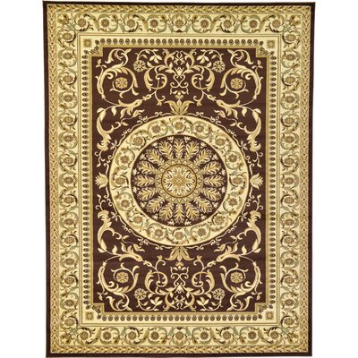 Oskar Brown Area Rug Rug Size: 9 x 12