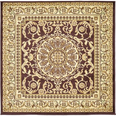 Oskar Brown Area Rug Rug Size: Square 6