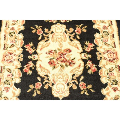 Oskar Black Area Rug Rug Size: Rectangle 10 x 13