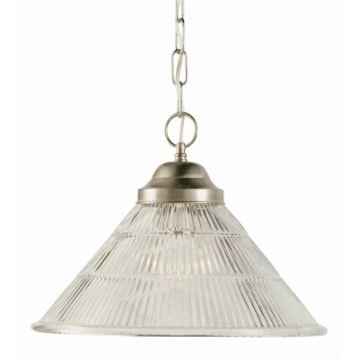 Lewisboro 1-Light Pendant Finish: White