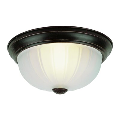 Lewiston 1-Light Flush Mount Finish: Rubbed Oil Bronze