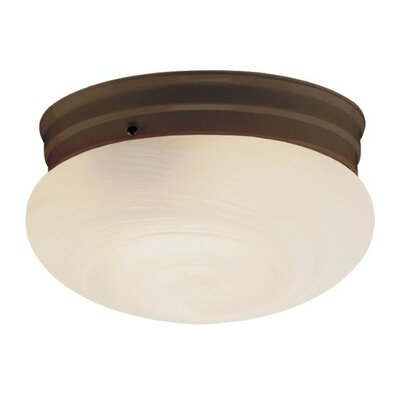 Lichtenstein 1-Light Flush Mount Finish: White