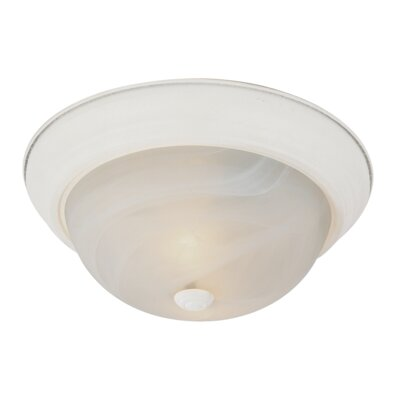 Livonia 2-Light Flush Mount Finish: Antique White