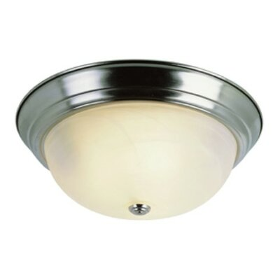 Livonia 2-Light Flush Mount Finish: Brushed Nickel
