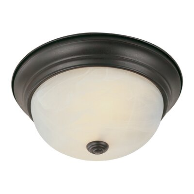Livonia 2-Light Flush Mount Finish: Rubbed Oil Bronze
