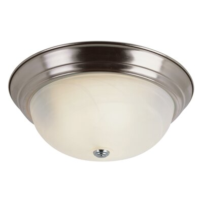 Loganton 3-Light Flush Mount Finish: Brushed Nickel