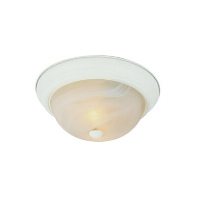Loganton 3-Light Flush Mount Finish: Antique White