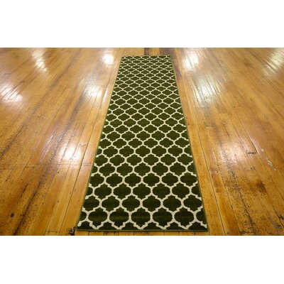 Millvale Green Area Rug Rug Size: Runner 27 x 10