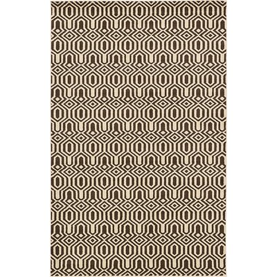 Bingaman Brown Area Rug Rug Size: Rectangle 5 x 8