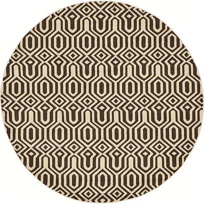 Millvale Brown Area Rug Rug Size: Round 6