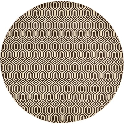 Millvale Brown Area Rug Rug Size: Round 8