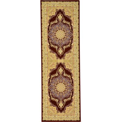 Malone Red/Beige Area Rug
