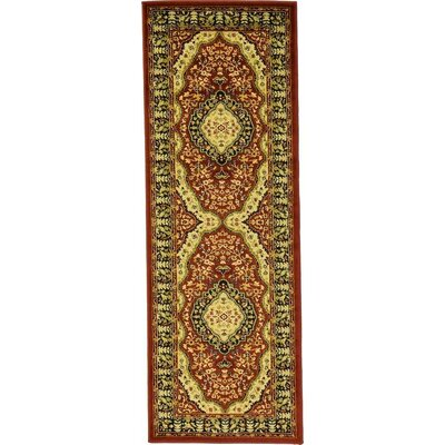 Malone Red Area Rug