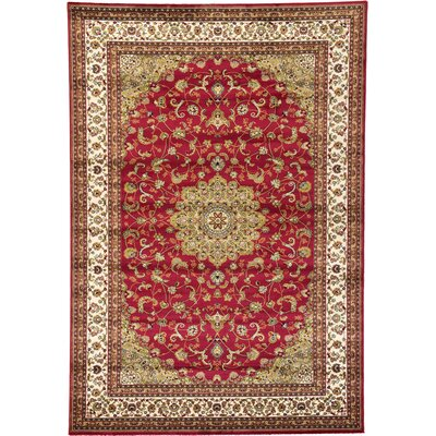 Malone Red Area Rug Rug Size: 2 x 6