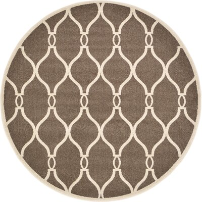 Millvale Brown Area Rug Rug Size: 6 x 6