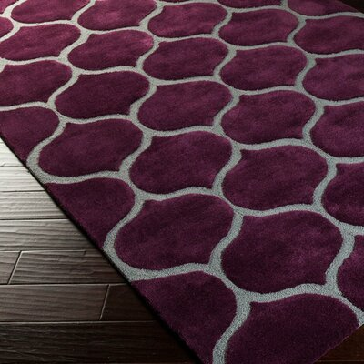 Cadiz Wine & Gray Geometric Hand-Tufted Area Rug