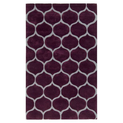 Newbury Raspberry Wine & Pigeon Gray Area Rug Rug Size: Rectangle 5 x 8