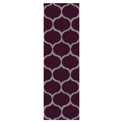 Newbury Raspberry Wine & Pigeon Gray Area Rug Rug Size: Runner 26 x 8