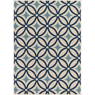 Cowell Blue Indoor/Outdoor Area Rug Rug Size: Rectangle 93 x 126