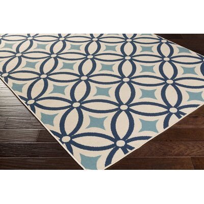 Cowell Blue Indoor/Outdoor Area Rug Rug Size: Square 710