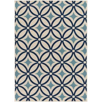 Osage Blue Indoor/Outdoor Area Rug Rug Size: 67 x 96