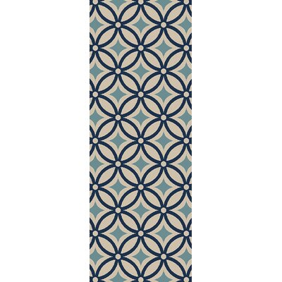 Osage Blue Indoor/Outdoor Area Rug Rug Size: Runner 27 x 73
