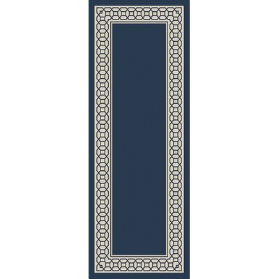 Osage Navy Indoor/Outdoor Area Rug Rug Size: Runner 27 x 73