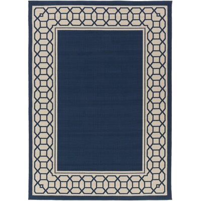 Osage Navy Indoor/Outdoor Area Rug Rug Size: Rectangle 93 x 126