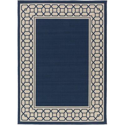 Osage Navy Indoor/Outdoor Area Rug Rug Size: 53 x 73