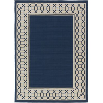 Osage Navy Indoor/Outdoor Area Rug Rug Size: 93 x 126