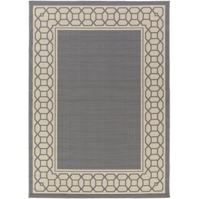 Osage Gray Indoor/Outdoor Area Rug Rug Size: 93 x 126