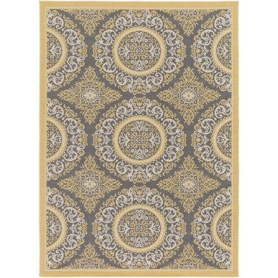 Osage Yellow Indoor/Outdoor Area Rug Rug Size: Round 710